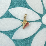 14k Yellow Gold Enamel Conch Pendant