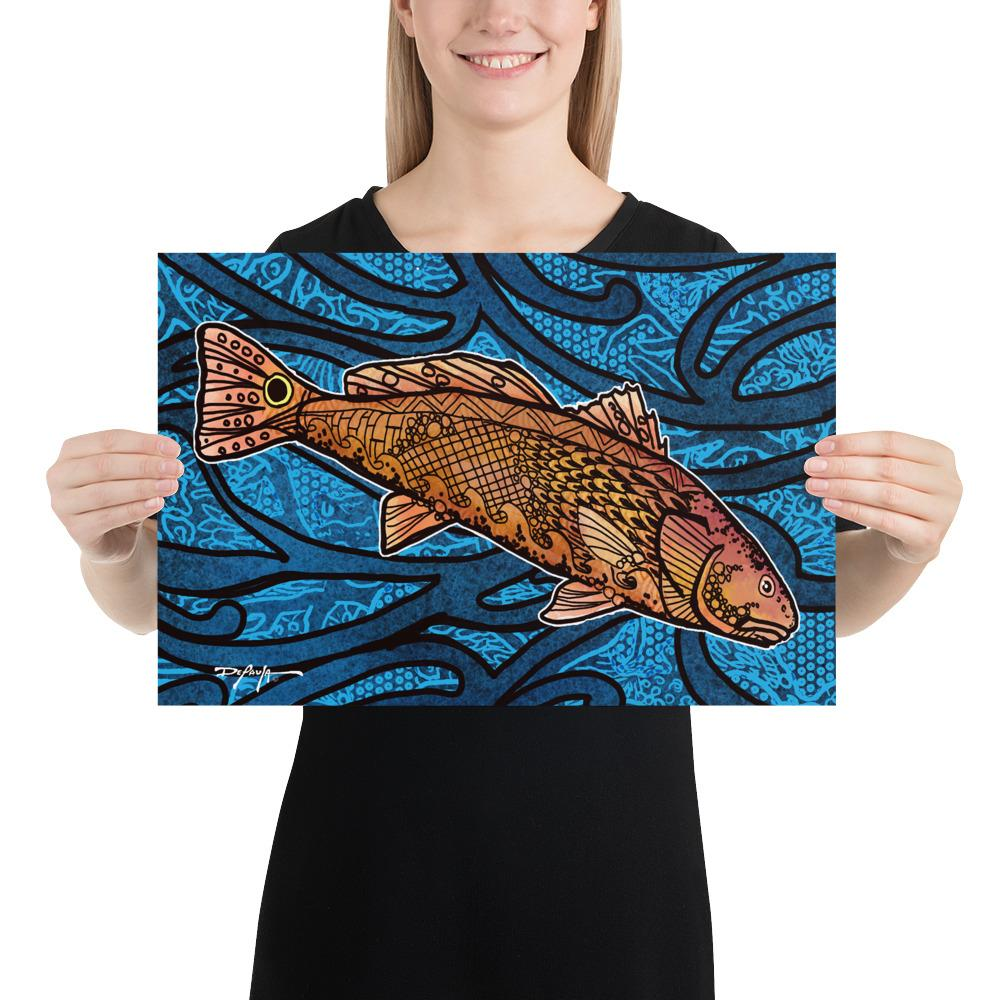 Redfish Tide Fine Art Print