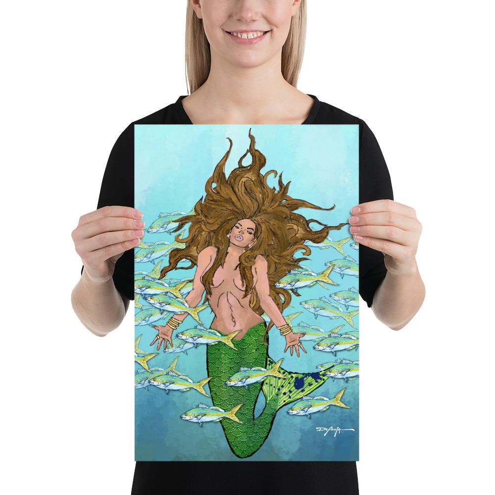 Mysterious Mermaid Fine Art Print