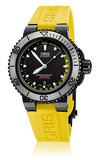 Oris Aquis Depth Gauge Black PVD/DLC Yellow Dive Watch