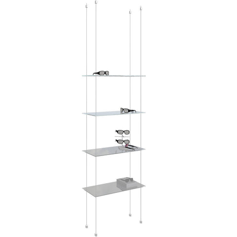 QUAD™ Cable Display System #3 (Glass Shelves)