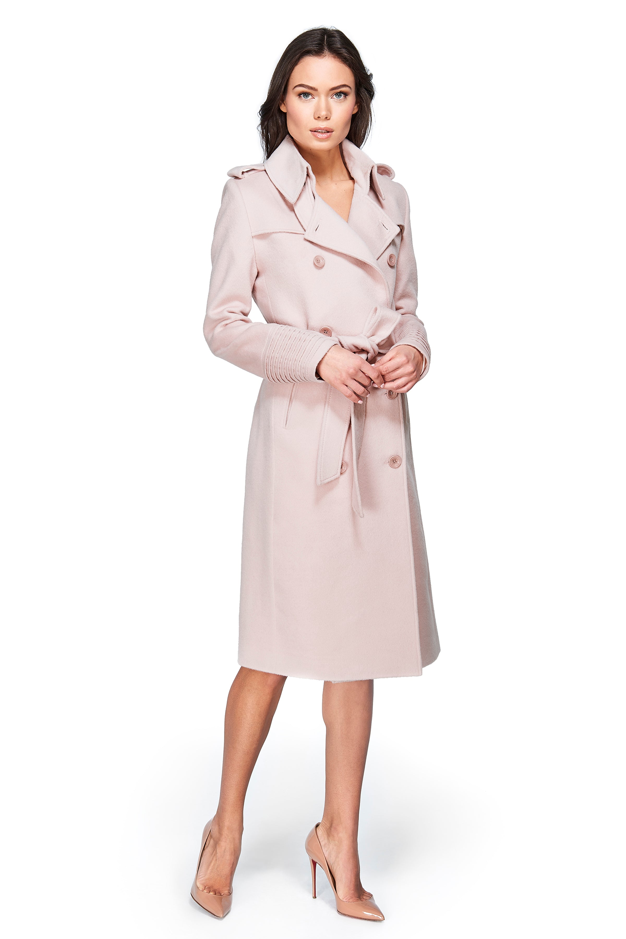 Double Breasted Trench Coat Blush