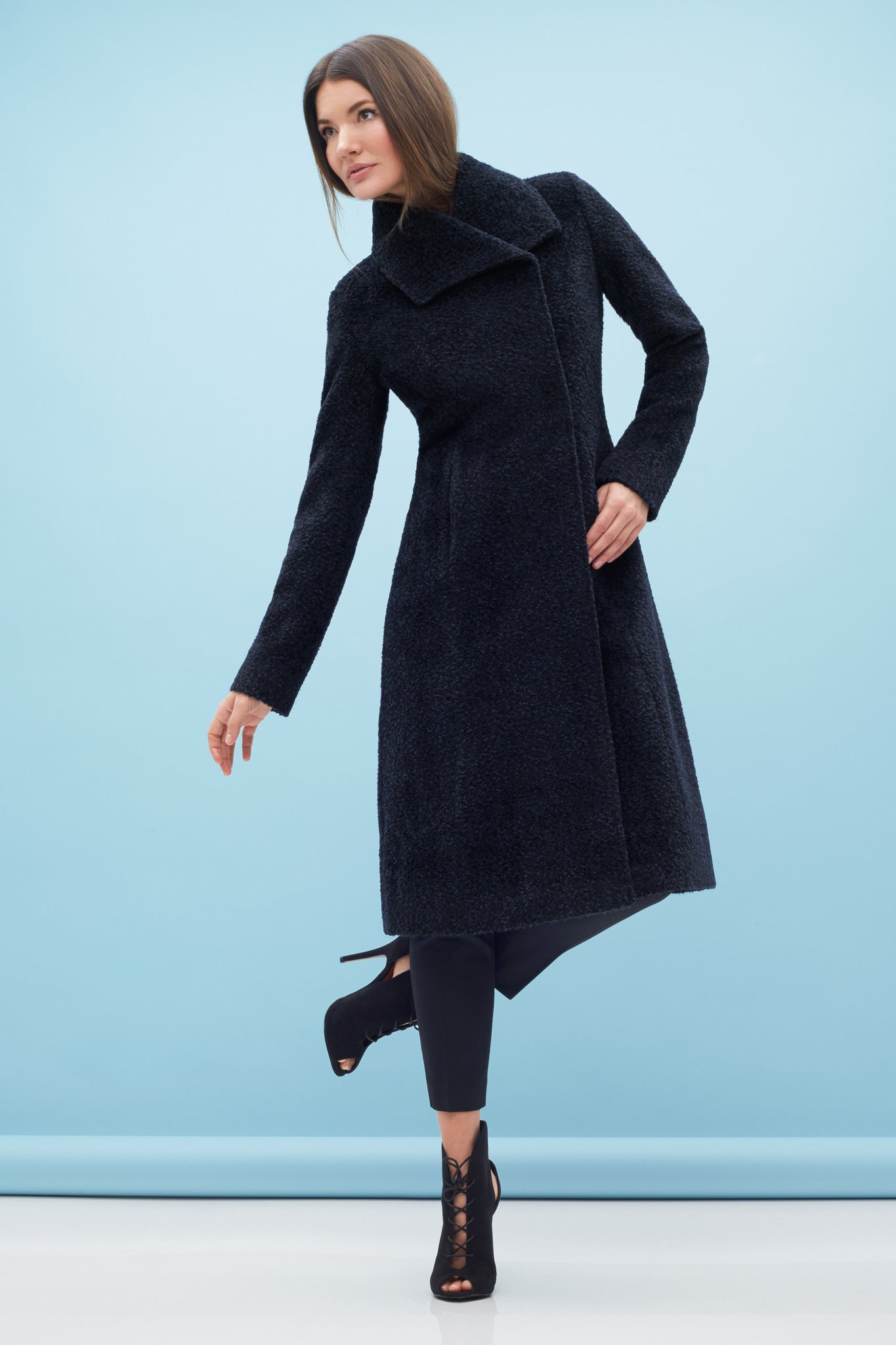 Long Fitted Coat Midnight