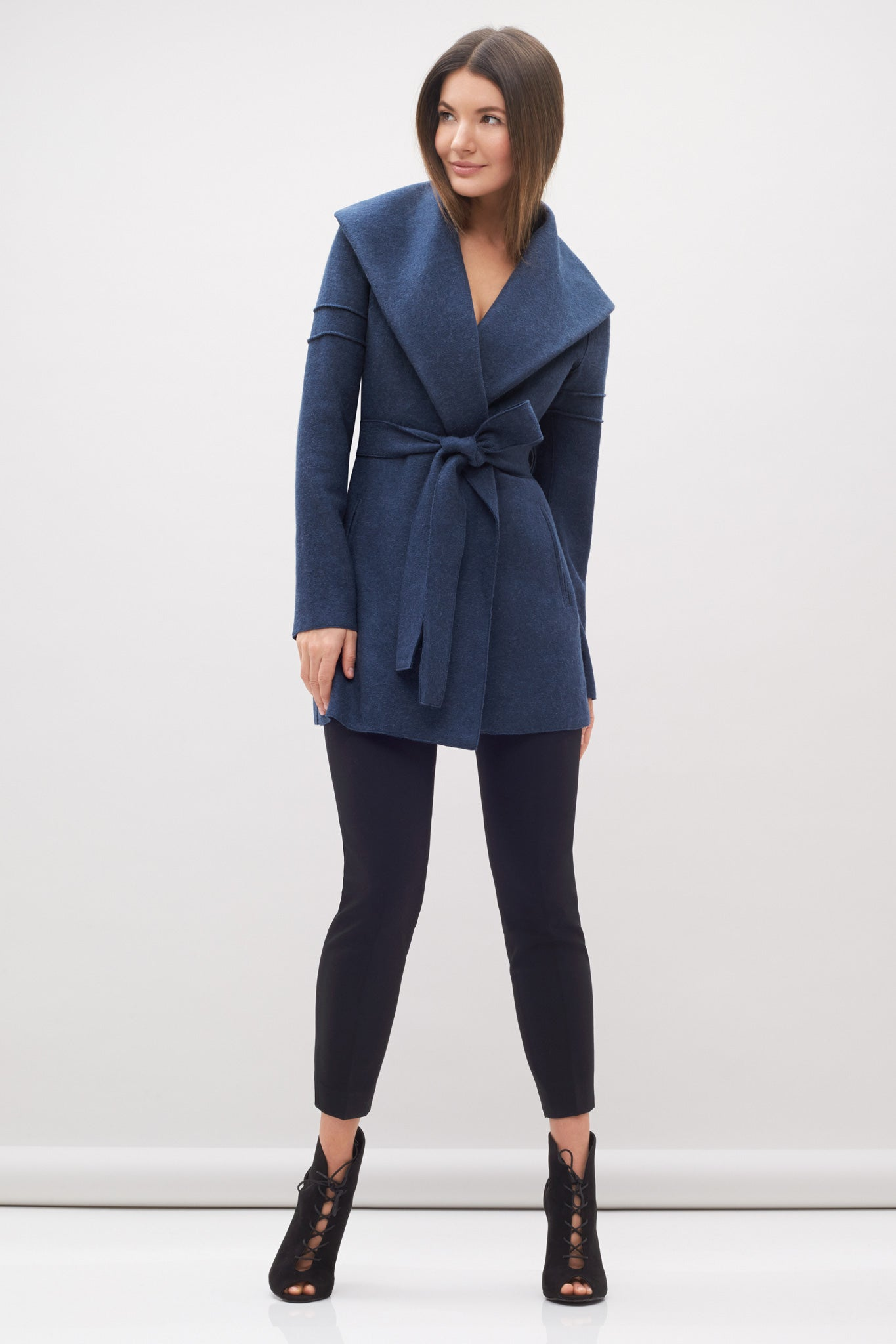 Wrap Coat Denim