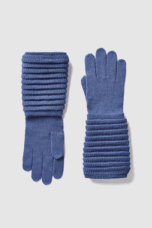 Adult Ribbed Gloves, Periwinkle