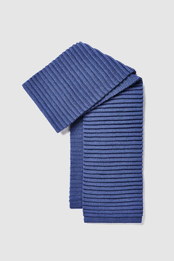 Adult Ribbed Scarf, Periwinkle