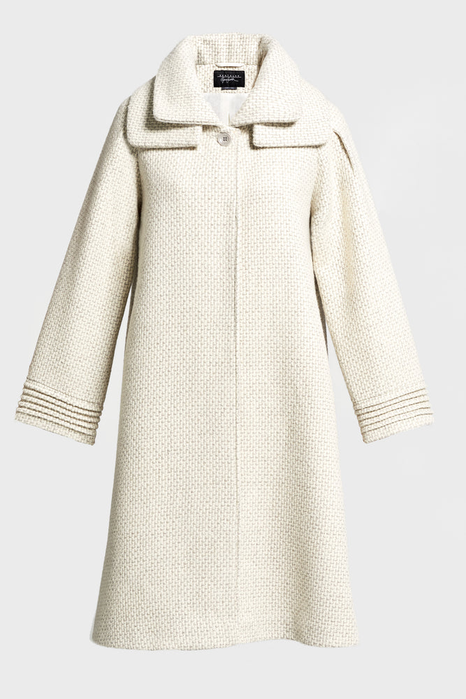 Eco Alpaca Swing Coat, Marble