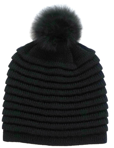 Kids Ribbed Hat </br> Grey