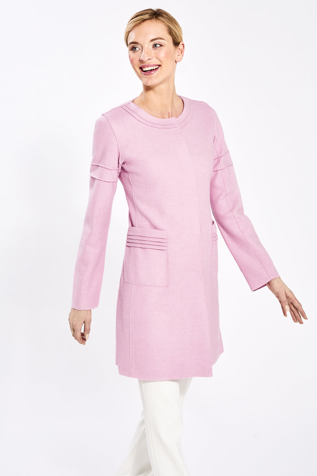 Straight Cut with Square Pockets, Parfait Pink