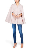 Stand Collar Cape, Blush