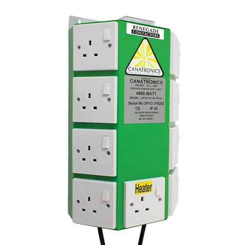 Canatronics 8 Way Contactor | Hydroponics lighting control