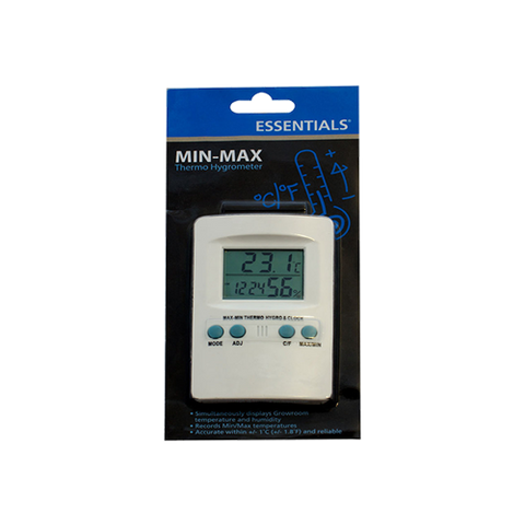Essentials Digital min-max hygrometer