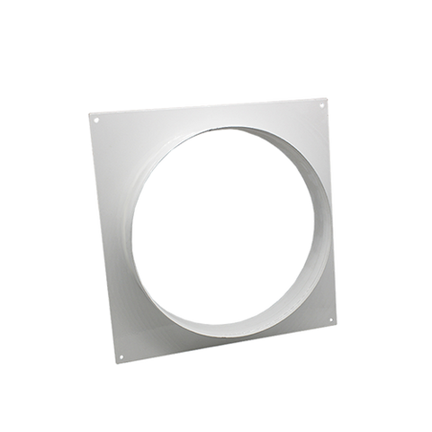 square metal spigot wall flange