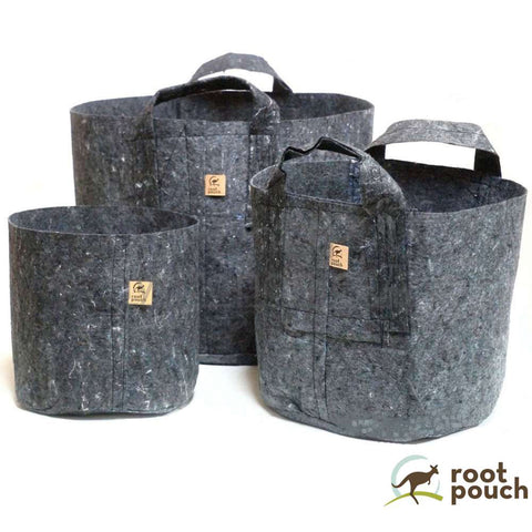 Root Pouch Grey Fabric Pots