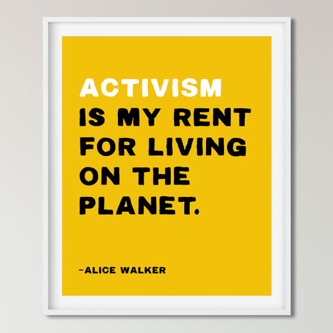 Protest Poster, Alice Walker Quote. Transit Design.