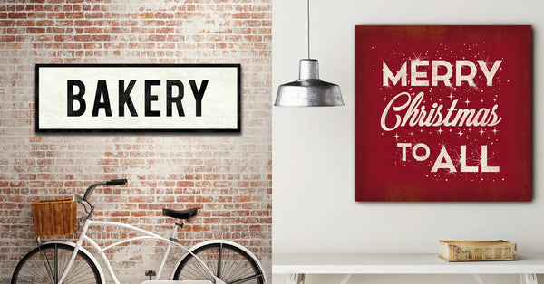 Bakery Sign and Merry Christmas Sign