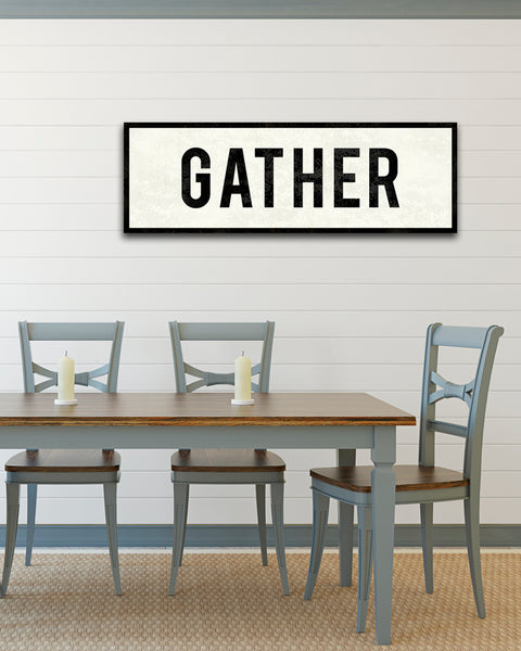 Gather Sign by Transit Design