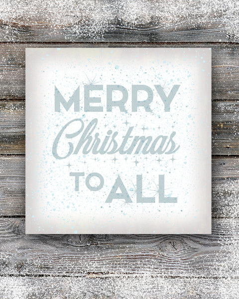Merry Christmas Sign in White