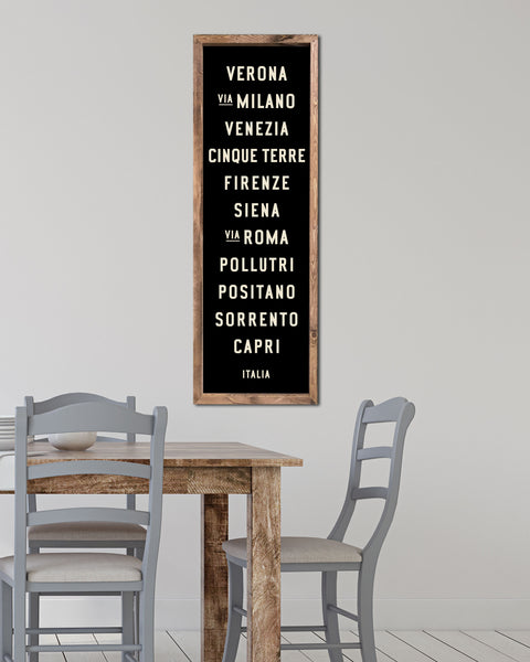Wooden Subway Art by Transit Design. Italy Subway Sign.