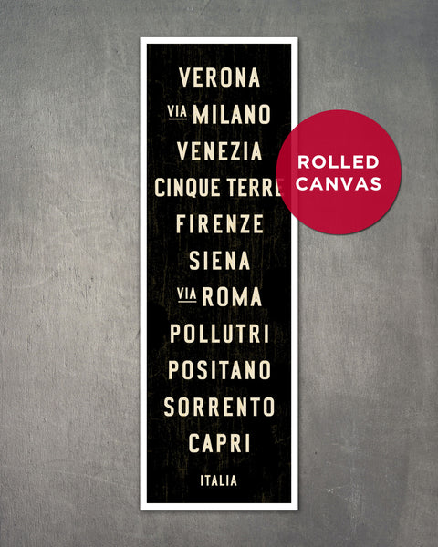 Italy Subway Sign by Transit Design.