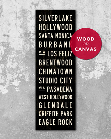 Los Angeles Subway Sign Art by Transit Design. LA Wall Art.