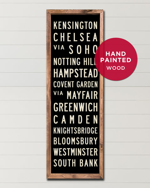 Small London Metro Subway Sign Art
