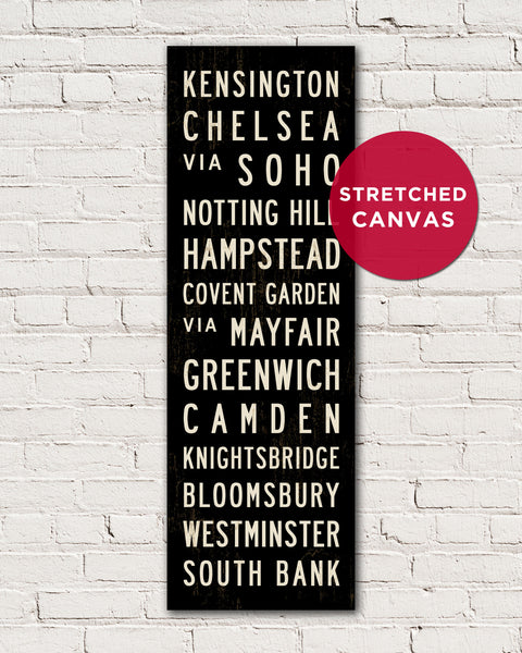 British Wall Art, London Subway Sign by Transit Design