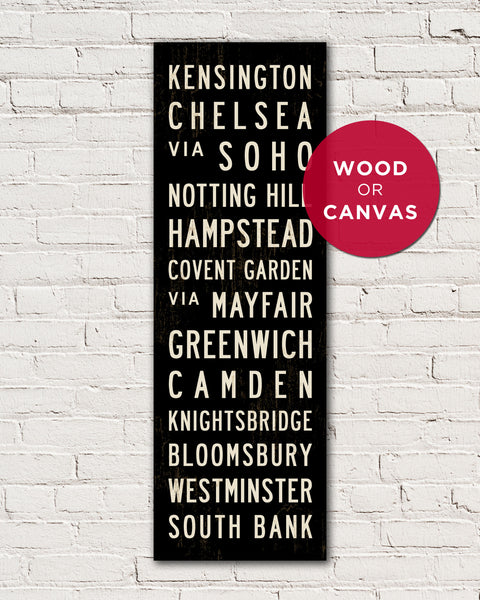London Subway Sign Art, London Wall Art by Transit Design