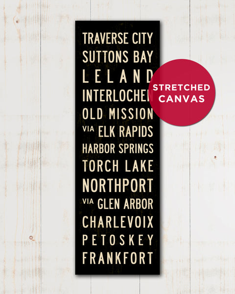 Stretched Canvas Michigan Subway Sign Art by Transit Design