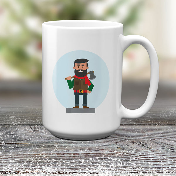 Winter Lumberjack Mug, Novelty Mugs by Smirkantile