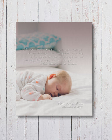 Personalized Baby Photo on Canvas by Transit Design