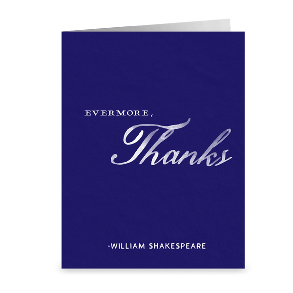Evermore, Thanks Thank You Card. (M603)