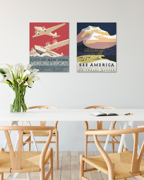 Vintage WPA Posters, Vintage Travel Posters by Transit Design.