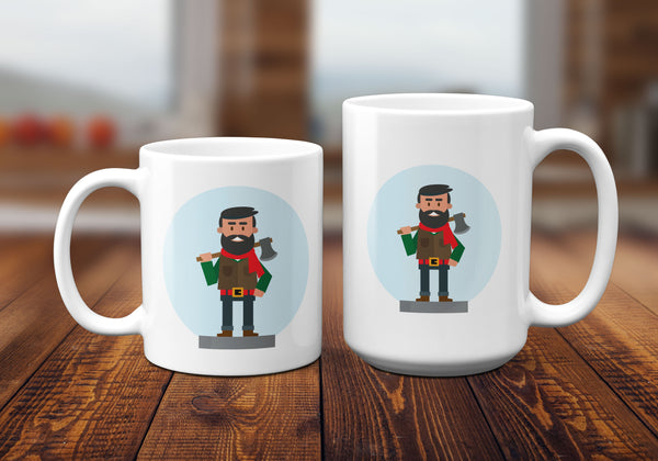 Lumberjack Mugs, Novelty Mugs by Smirkantile