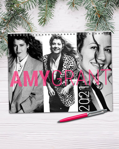 2021 Amy Grant Wall Calendar, Amy Grant Merchandise by Transit Design