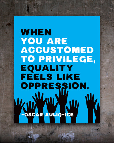 White Privilege Demonstration Poster, Anti-Racist Inspirational Quote for Sale. Transit Design.