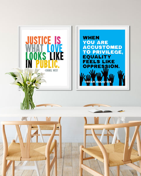 Buy Racial Equality Posters, Anti-Racism Quotes by Transit Design