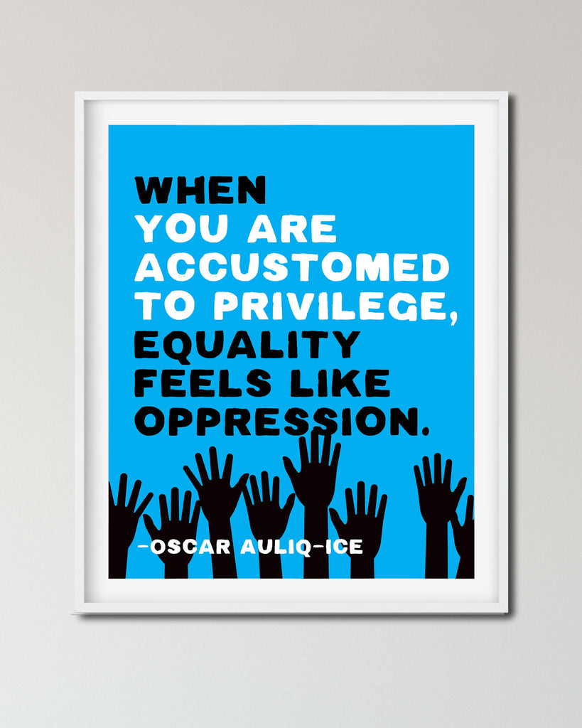 Black Lives Matter Poster, Oscar Auliq-ice Quote, For Sale by Transit Design