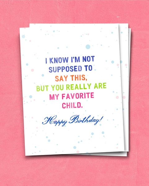 Funny Birthday Card for Son or Daughter by Smirkantile