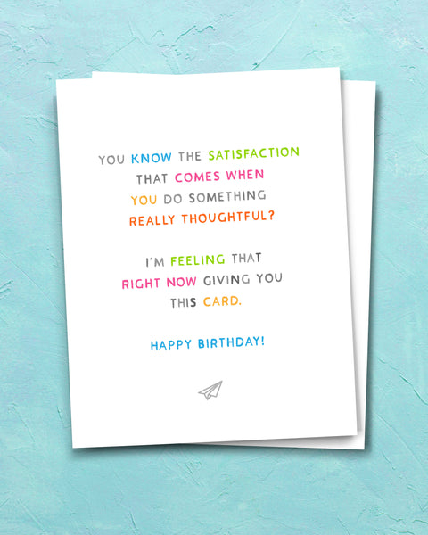 Really Thoughtful Birthday Card by Smirkantile.