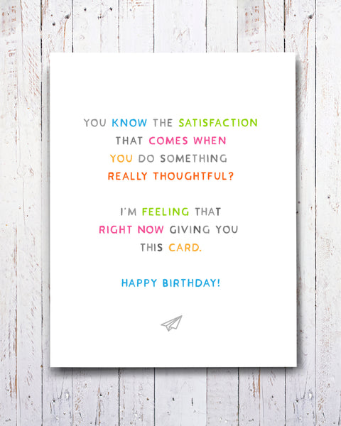 Really Thoughtful Birthday Card, Funny Cards by Transit Design