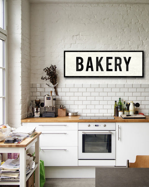 Bakery sign word art home kitchen decor transit design for Deco cuisine italienne