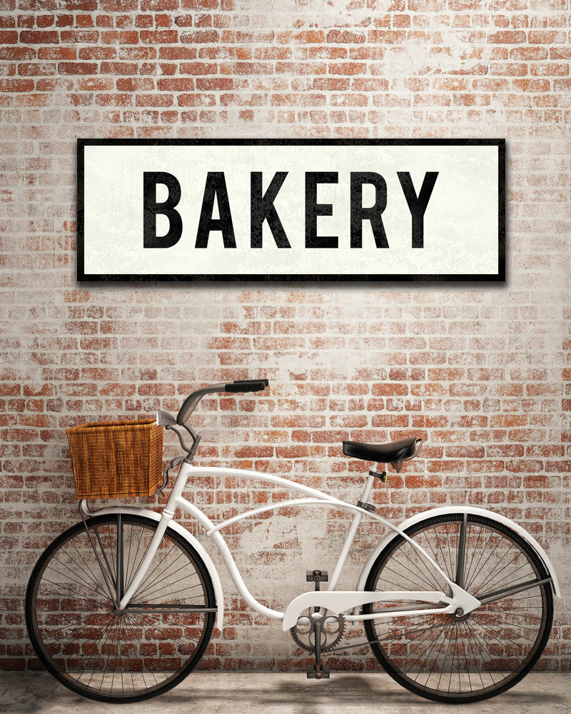 Bakery Sign Farmhouse Sign Vintage Kitchen Decor Transit Design