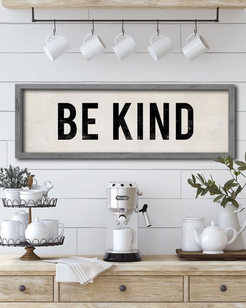Be Kind Decorative Wall Sign, Country Wall Decor by Transit Design