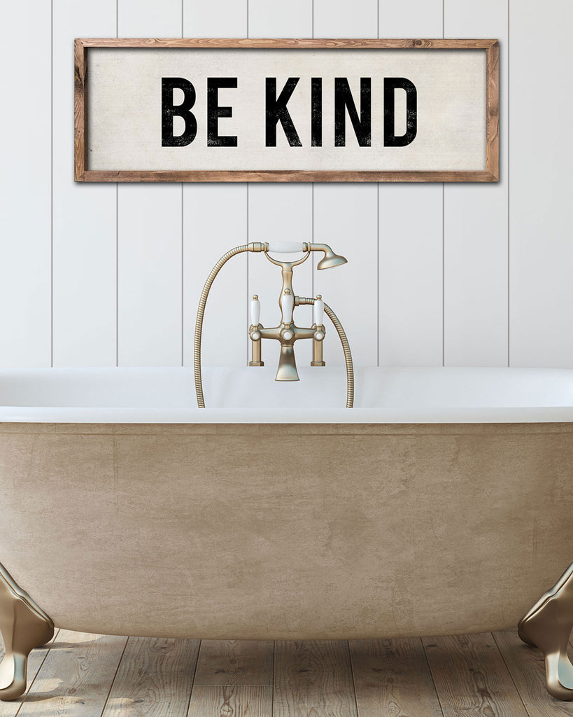 Be Kind Cottage Decor, Rustic Wood Signs by Transit Design