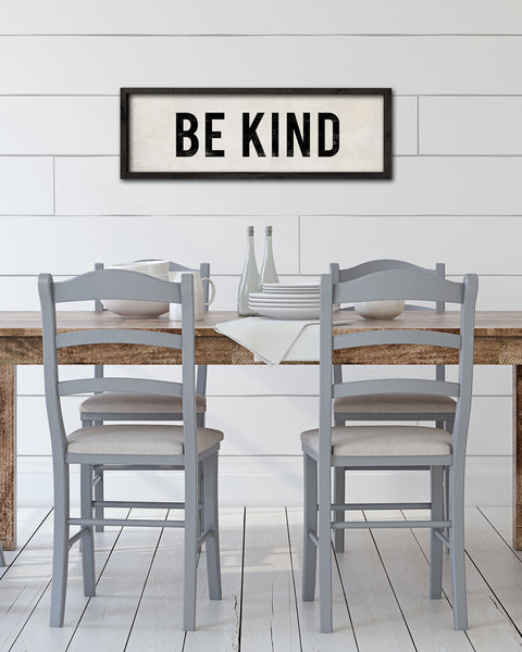 Be Kind Country Cottage Decor, Dining Room Art by Transit Design