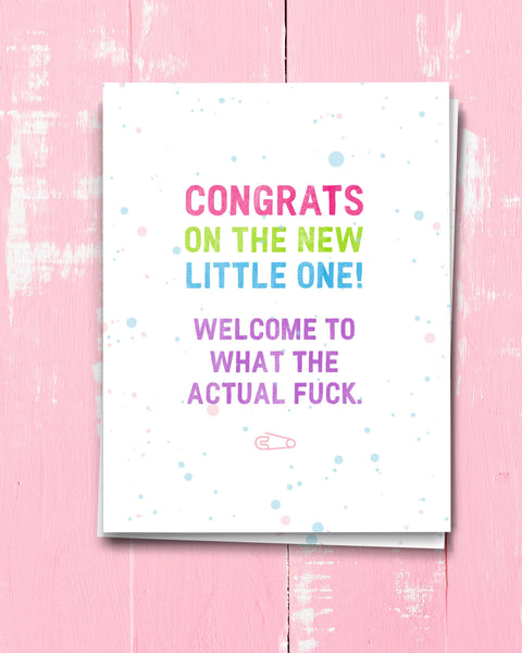 Hilarious Funny New Baby Card, Congratulations on New Baby by Transit Design