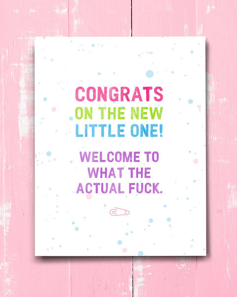 Hilarious New Baby Card, Congratulations on New Baby by Smirkantile