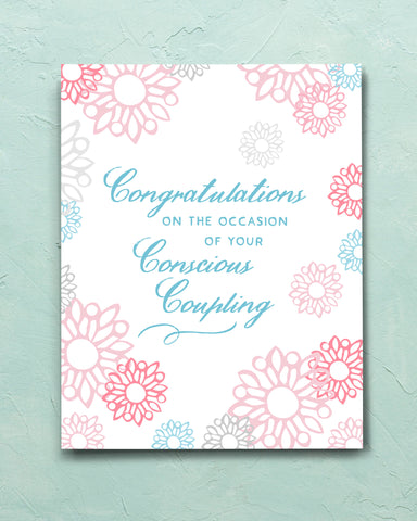 Funny Wedding Card, Conscious Coupling by Transit Design