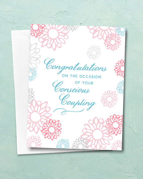 Conscious Coupling Funny Wedding Card by Michael Jon Watt
